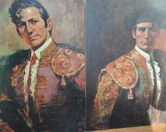Ortiz Matador Prints, 11x14 on Artboard, vintage 60s Art