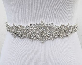 Bridal Sash, Bridal Belt, Wedding Sash, Bridesmaid Belt, Crystal Sash, Rhinestone Belt, Wedding Dress Sash, Wedding Dress Belt, style 79