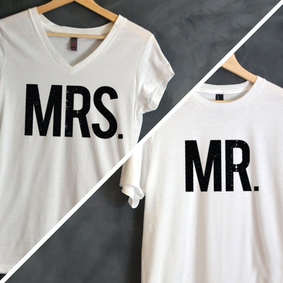 mr mrs t shirt package mr tee mrs tee hubby and wifey. Black Bedroom Furniture Sets. Home Design Ideas