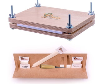 Bookbinding Super Deluxe Starter Kit - with A4 Punching Cradle and Book Press  - Free Shipping