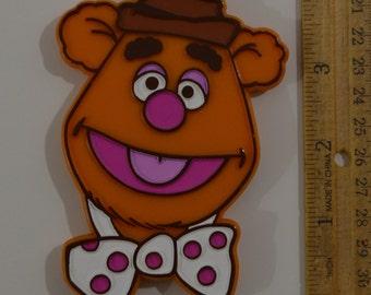 "Vintage Hallmark MUPPETS FOZZIE BEAR Hand-Painted Cookie Cutter | 1980 4.25"" Jim Henson Monogram Products"