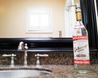 Stoli Soap Dispenser / Vodka Bottle / Bathroom Decor / Stolichnaya / Girlfriend Gift / Birthday Gift / Soap Dispensers / Lotion Dispenser