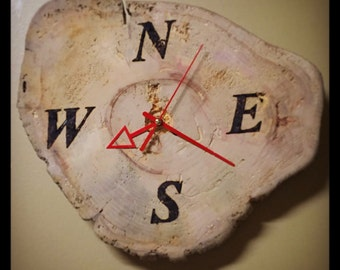 Clock slice of wood