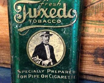 Tuxedo Tobacco tin ~ 1920's