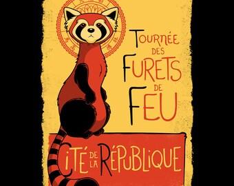 """LADIES FIT """"Les Furets de Feu"""" T-shirt"""