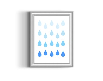 Raindrops Printable Wall Art