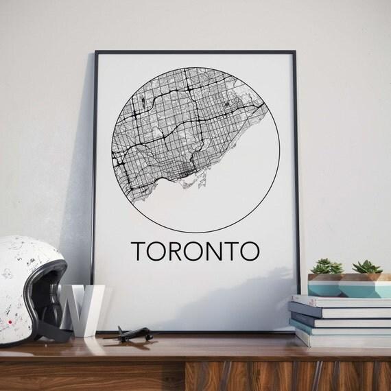 Toronto, Ontario Minimalist City Map Print