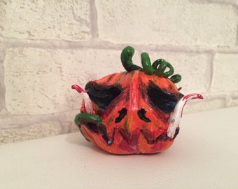 Creepy pumpkin Halloween decoration Jack-o-lantern