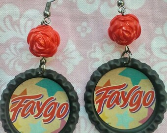 Faygo soda-pop earrings