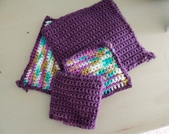 Crochet Potholder and Microwave Mini