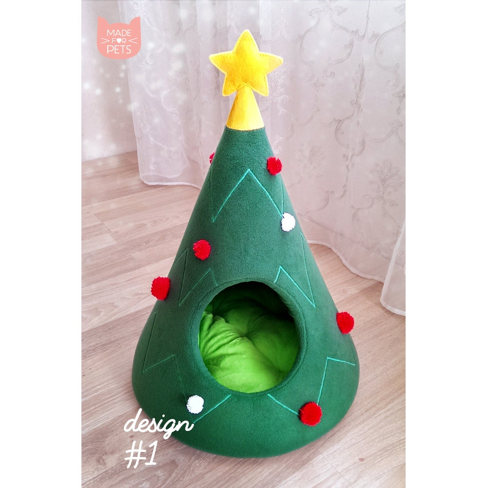 Christmas Tree Cat House Cat Bed Pet Furniture Cat By: christmas tree cat tower