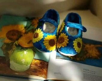 sunflower babyshoes