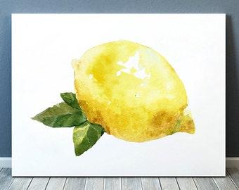 Lemon decor Kitchen print Fruit poster Food print ACW454