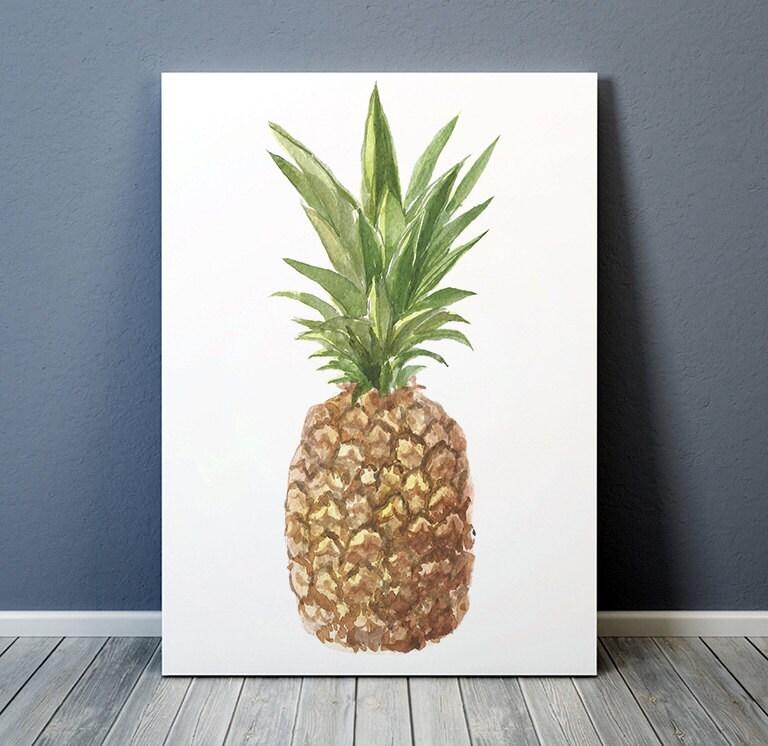 Pineapple Poster Food Print Fruit Print Kitchen Decor Acw417