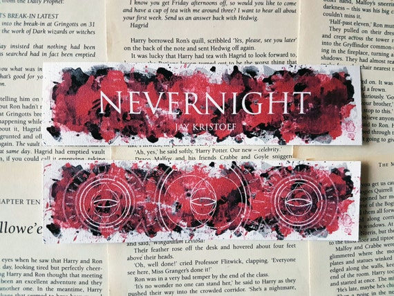Nevernight Thin Watercolour Bookmarks