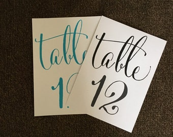 Table Numbers, wedding table numbers, party table numbers,wedding signs
