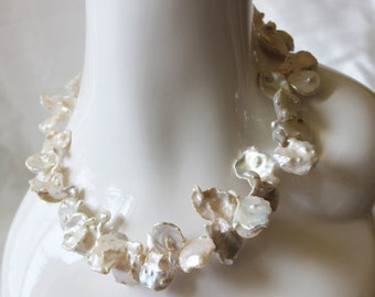 Large Keishi pearl necklace
