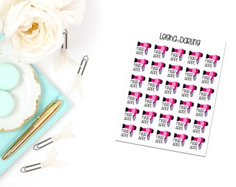Hair Appointment/ Hair Cut/Blow Dryer Planner Stickers