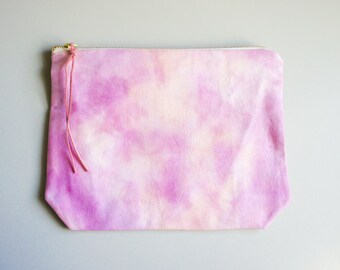 Vivianna Hand-dyed Large Pouch - Helio Sorbet