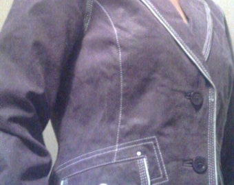 Violet Suede Jacket