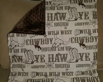 Ye Haw minky blanket