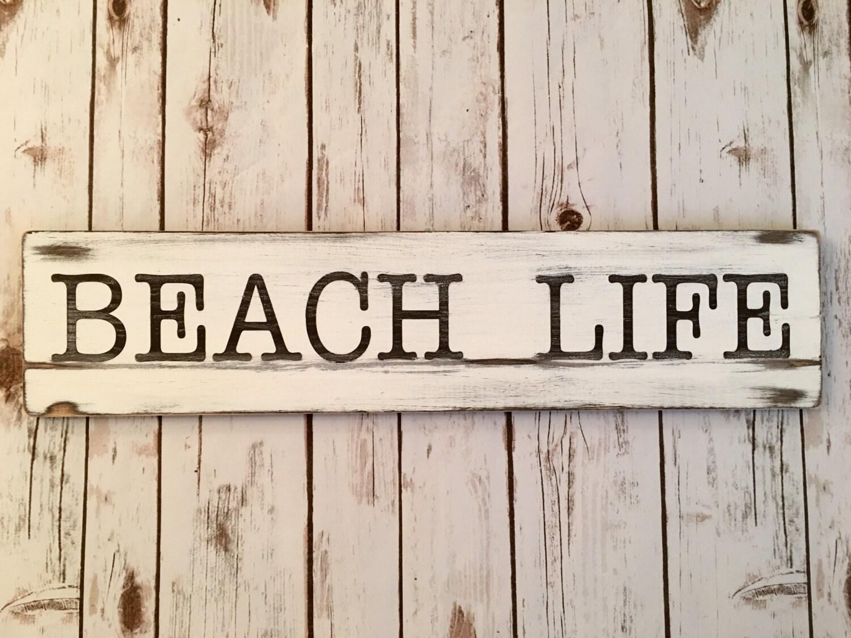 beach life home decor wood sign beach life beach wedding