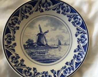 Vintage Delft Blue Plate