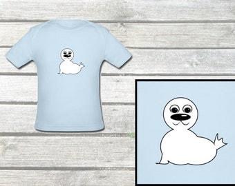 Baby organic shirt small seal