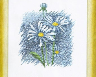Cross Stitch Kit Flowers