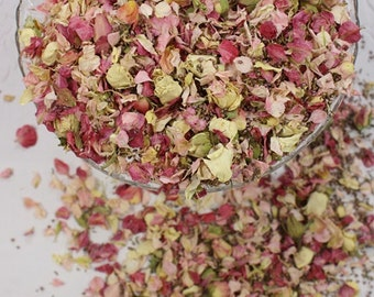 Biodegradable, Real, Natural, Venue Decoration, Dried Petals and Rose Buds, ROSY RUSTIC COUNTRY