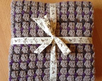 PDF Pattern - 'Nola' Modern Crochet Baby Blanket  (Beginner-Intermediate)
