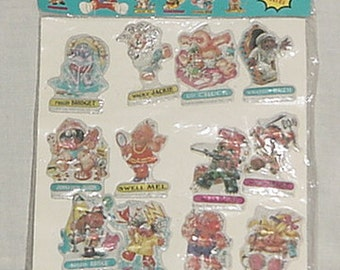 1986 Garbage pail kids stickers