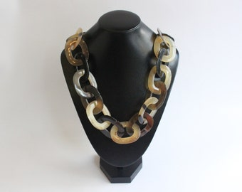 Horn Jewelry Chain Necklace Handmade :dc 012