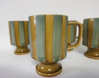 1970's Vintage Coffee Cups, 70's Movie Prop, Retro Kitchen