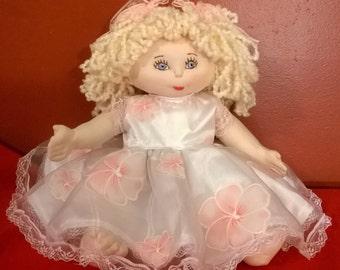 "Gracie, 17"" soft sculptured doll"