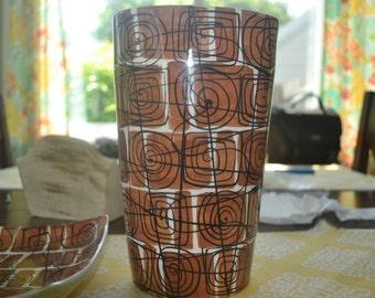 Mid Century Modern Italian Raymor Pottery Vase, And  plate