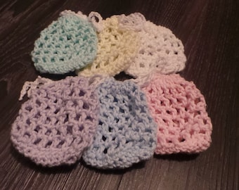 Cotton Crochet Mesh Soap Saver Bag