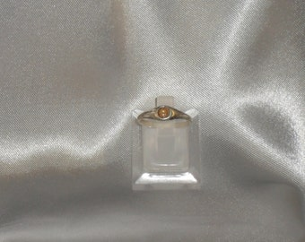 ring fine semi precious stone hessonite Garnet and Sterling Silver 925