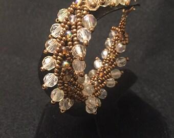 Brown/gold beaded bracelet