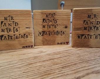 Reclaimed Wood Coaster Set