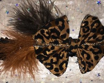 Leopard Bow Headband