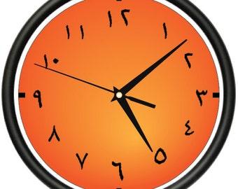 ARABIC TIME Wall Clock alphabet language arab islamic gift