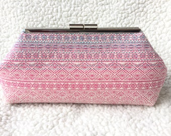 Didymos Indio Aurora clutch, handbag, babywearing purse, woven wrap scrap