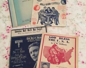 Vintage Sheet Music X 4