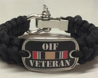 Operation Iraqi Freedom OIF Veteran Paracord Survival Bracelet
