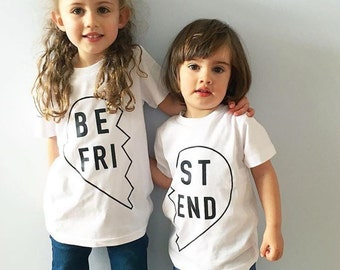 Front Best Friend White Tee - 2 Pack