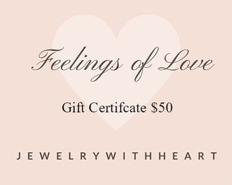Jewelry Gift Certificate, Fifty Dollars