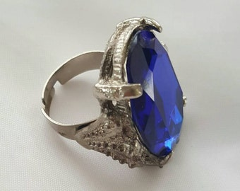 Blue stone statement ring