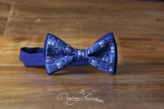 tardis bow tie bowtie by bowtiesfactory on etsy