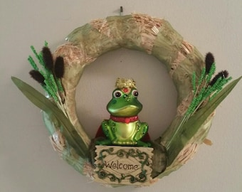 Frog Lovers straw wreath
